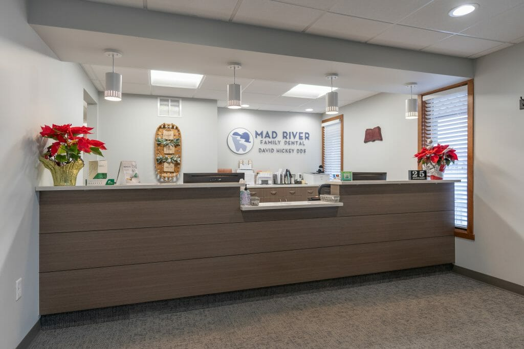 Mad River Family Dental reception area